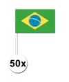 Handvlag Brazilie set van 50