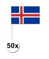 50 stuks handvlag IJsland 12 x 24 cm