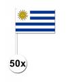Voordeelpakket 50 handvlagen Uruguay