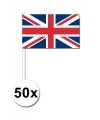 Handvlag Union Jack set van 50